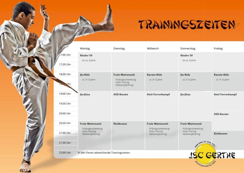 trainingsplan für das kampfsporttraining